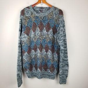 Bachrach Vintage Men's M Wool Sweater Hand Knit